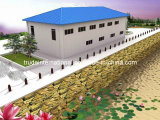 Het Geprefabriceerde huis van twee die Vloer/prefabriceerde de Bouw als Bureaus wordt gebruikt