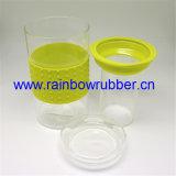 Luva do copo da borracha de silicone