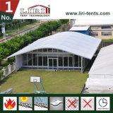 De Tent van Arcum met Eave Uitbreiding en de Muur van het Glas voor de Partijen van het Huwelijk, de Capaciteit van 500 Mensen