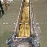 5.5m langes stark gezeichnetes quadratisches Messingrohr C27000