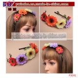 Joyería hairband elástico Bautizo Flor de pelo floral (P3035)