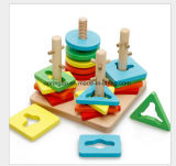 Intellektuell-Spielzeug der geometrische Form-hölzernes Spielwaren-DIY