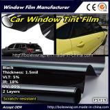 5% черное 1.5mil, Царапать-Упорная пленка окна автомобиля 2plys, солнечная пленка окна, пленка подкраской окна