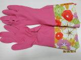 Длинняя конструкция DHL701 цветка перчаток латекса Hosehold тумака