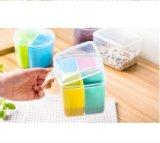 多彩な台所食糧記憶の耐久の乾燥ボックスは3本の円形の分割Crisperのスパイスのシェーカーの香辛料のびんをセットした