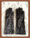 Señora Fashion Dress/partido de tarde/guante largo de la guarnición del paño grueso y suave del satén de la boda/de la danza