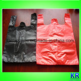 Polythen sackt Shirt-Beutel für Clearning Abfall ein