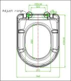 Couverture de siège des toilettes de forme de Duroplast D avec la fin de doux