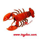 De pluche imiteert de Overzeese Zeekreeft van het Stuk speelgoed