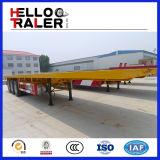 3 schlußteil-LKW-Hersteller der Wellen-40FT halb Flachbett