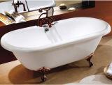 Projeto novo Clawfoot da patente 2014 com a banheira autônoma do Faucet
