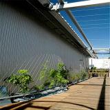 Система стены зеленого цвета сетки веревочки нержавеющей стали