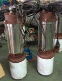 Bomba submergível 0.37kw/0.55kw/0.75kw do aço inoxidável de Qdx