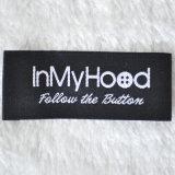 A alta qualidade projeta a etiqueta principal da tela da roupa do vestuário, etiqueta tecida
