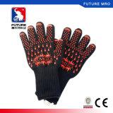 2017 hitzebeständige Aramid Silikon-Backen-Ofen-Handschuhe für BBQ