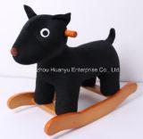 Animal de balanço da fonte nova da fábrica do projeto - balancim de madeira do cão