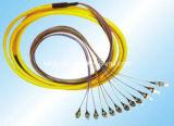 Coleta óptica 0.9m m de la fibra unimodal 9/125um de FC/PC