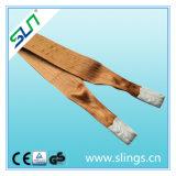 5:1 de facteur de sûreté de bride de sangle de double oeil de polyester de 6t*8m