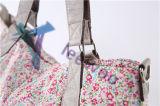 Saco maior do tecido do Tote do tamanho, multi saco da mamã da fralda da listra
