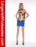 Superheld-Kleid-Halloween-Partei-Kleid Cosplay Kostüm der reizvollen Frauen