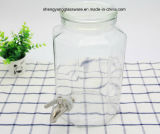 Frasco de vidro do armazenamento da bebida do Octagon com tampa de vidro