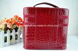 Caixa cosmética da caixa do saco luxuoso novo da composição da camada dobro de grande capacidade