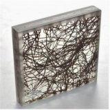 강화 유리 박판으로 만들어진 유리 사이 다름