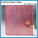4-8mm verdrahtetes Glas saure Etcehd Glas-Qualität