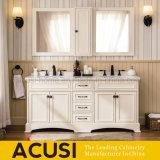 Suelo de marfil moderno del color que coloca la cabina de cuarto de baño de madera sólida (ACS1-W66)