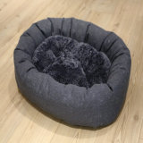 진한 파란색 자카드 직물 직물 형식 디자인 개 침대 애완 동물 제품 소파 베드