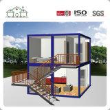 Casa prefabricada de lujo del envase de la caravana de dos suelos