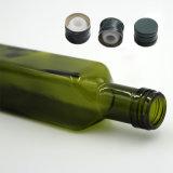 750ml obscuridade redonda de venda quente - frasco de vidro do óleo verde com parte superior do parafuso