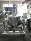 Inclinazione della caldaia di cottura rivestita del gas della caldaia che cucina la caldaia della minestra del POT