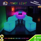 Table ronde extérieure des meubles DEL de lueur de Tableau de banquet de DEL
