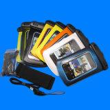 Bolso impermeable del brazal colorido del teléfono móvil con el auricular impermeable