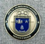 제조자 제작자 주문 금속 또는 앙티크 또는 기념품 또는 금 또는 군 은 경찰은 로고를 가진 동전에 최소한 도전한다