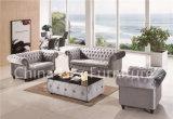 Sofas modernes de Chesterfield d'hôtels de cuir véritable