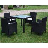 Mobília ao ar livre do Rattan agradável do estilo ajustada com quatro cadeiras