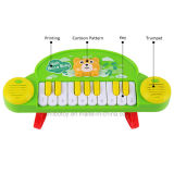 おもちゃを学んでいる10人のキーの漫画の電子器官の子供
