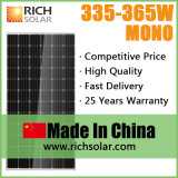 Évaluer un panneau solaire mono et poly de haute performance des cellules 355W
