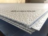 Placa de suelo Checkered de aluminio de la placa de la pisada de la placa 1060