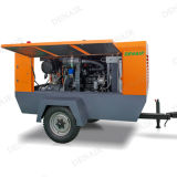 Compresseur diesel portatif de 185 Cfm pour la plate-forme de forage