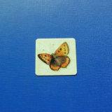 Distintivo stampato stampa offset del quadrato, distintivo della farfalla della A resina epossidica-Sgocciolatura (GZHY-OP-020)