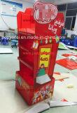 Visualización de suelo creativa de la cartulina del chocolate de Kitkat con 3 capas, soporte de visualización de papel plegable impermeable