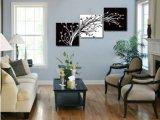 3部分熱い販売法の現代壁絵画木の絵画ホームキャンバスのホームで塗られる装飾的な壁の芸術映像はMc187を印刷する