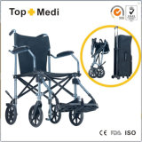 Topmedi Aluminum Portable Lightweight Foldable Travel Wheelchair для Disabled и престарелого