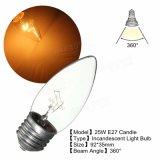 E27 25With40Wは白い型のエジソンの白熱蝋燭ライト電球AC220Vを暖める