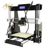 Impressora da venda direta DIY 3D da fábrica de Anet A8 China com auto função nivelada