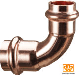 Copper Press Fitting Tuyau 22 mm X 90 Contour V