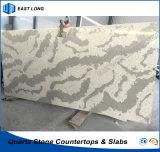 Het kunstmatige Bouwmateriaal van de Steen Voor Countertops van het Kwarts met SGS Normen (Marmeren kleuren)